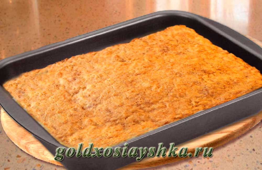 Пирог из кефира в духовке с фото