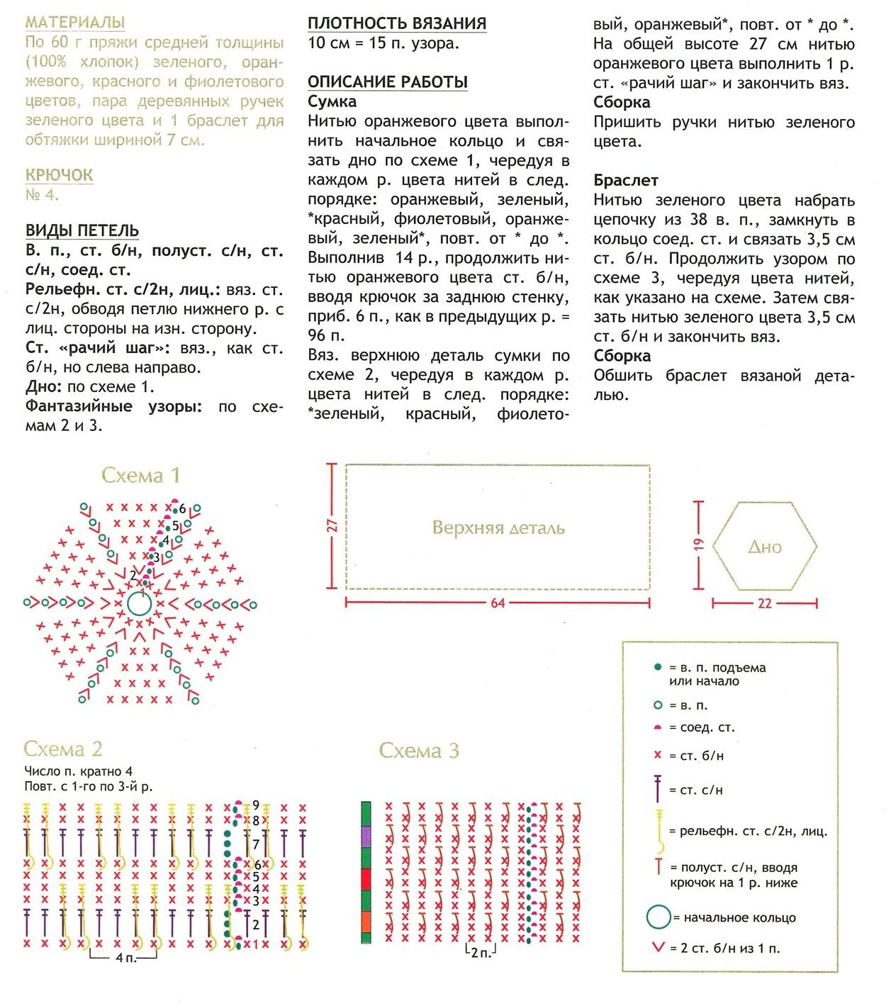 Схемы для вязания крючком браслеты 4