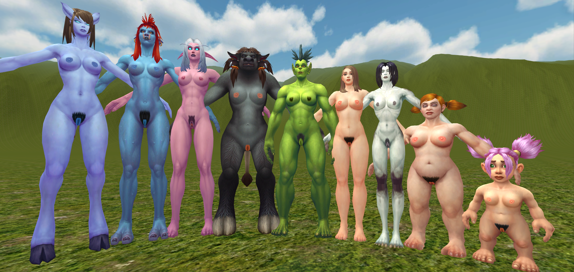 Naked world of warcraft females in the  sexy animation pornstars