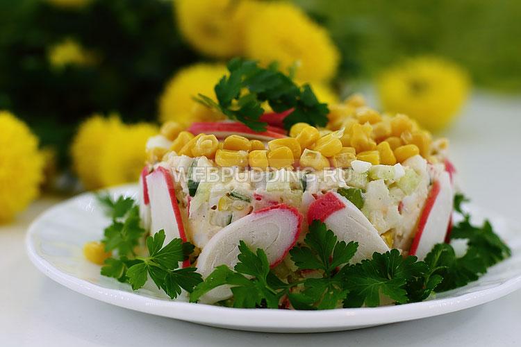 Салат из крабов и кукурузы рецепт с очень вкусный