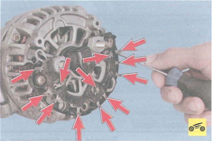 Ремонт генератора своими руками рено логан
