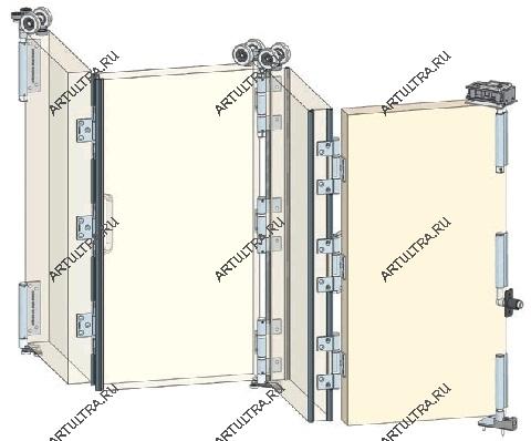 Как самому поставить межкомнатные двери гармошка
