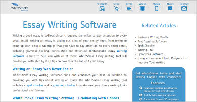 writing essay software Essaysoft provides essay software that will assist your everyday essay and article writing by helping you with essay creation, research and referencing.