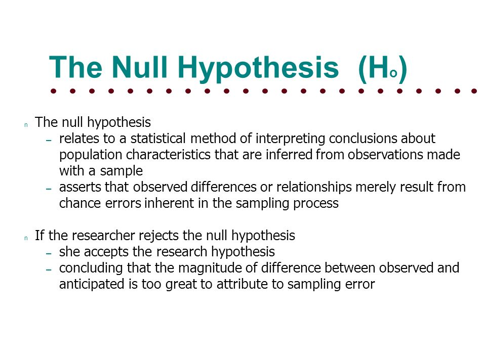 Experimental Questions and Hypotheses - Missouri ST