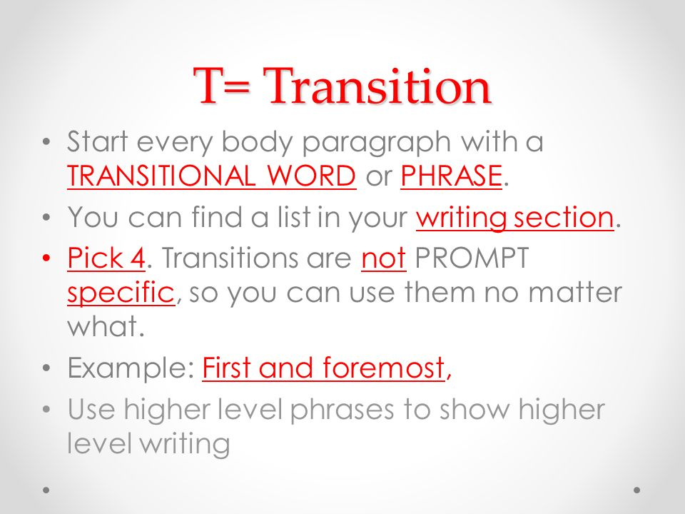 Good phrases for narrative essays