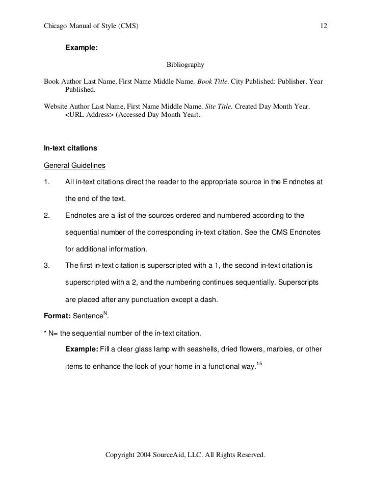 Chicago style example research paper