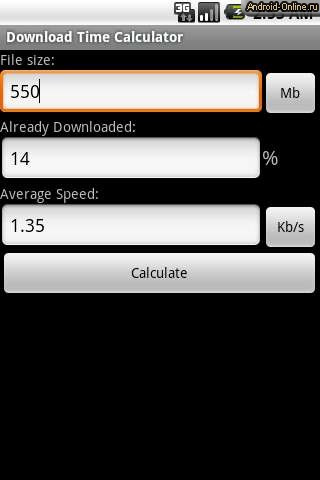 Download Calculator - Calculate Download Time