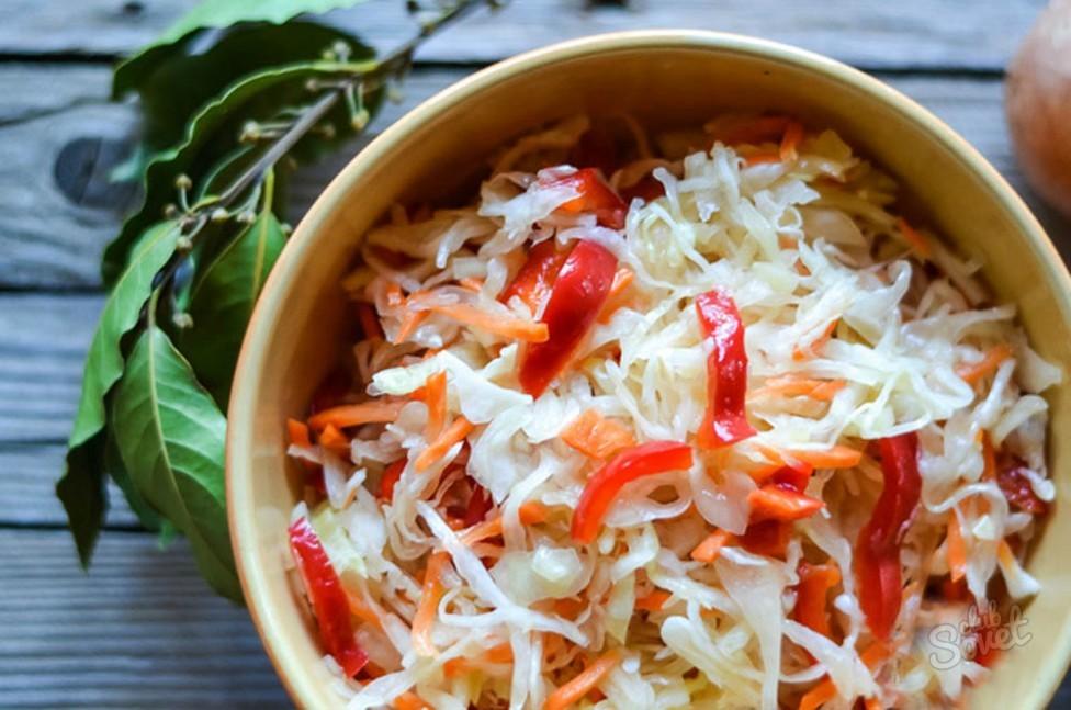 Капуста маринованная быстрого приготовления рецепт с морковью и луком