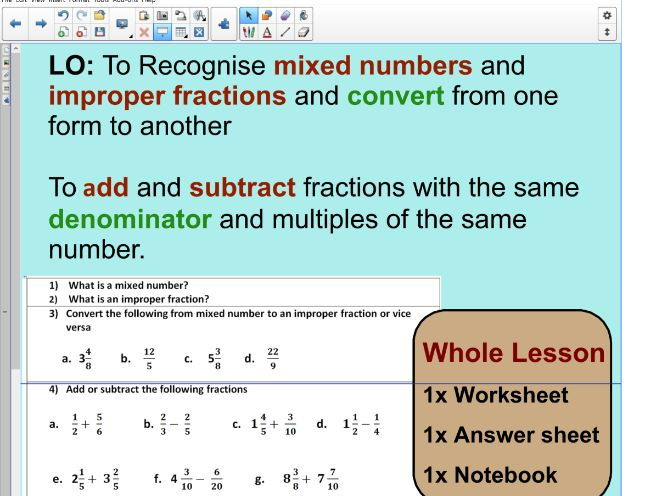 photo regarding Faceing Math Printable Worksheets referred to as Faceing Math Introducing Subtracting Fractions