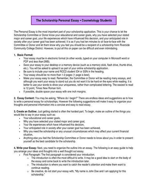 Career Goals Essay Examples Scholarship
