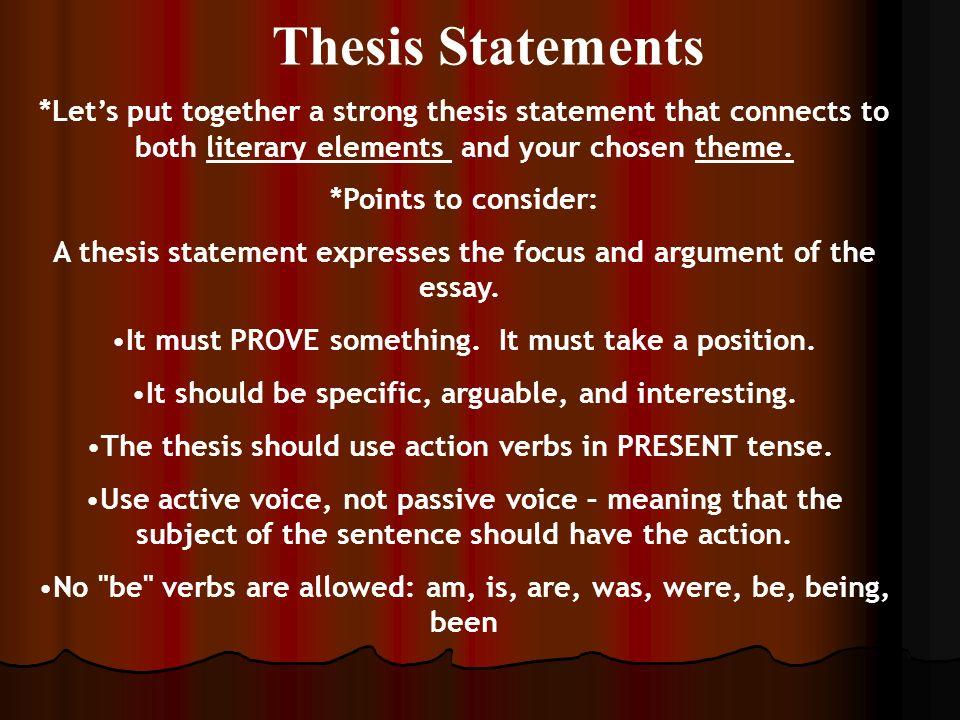 Essay highlighting an element of literature