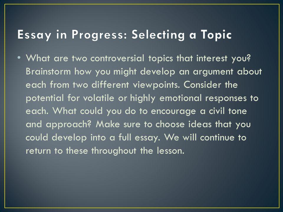 00 Argumentative essay topics