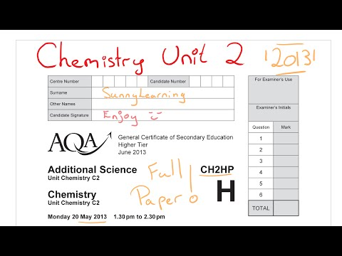 ADDITIONAL SCIENCE BIOLOGY - Assessment and