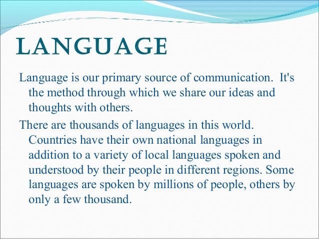 essay on importance of language essay on importance of language   words