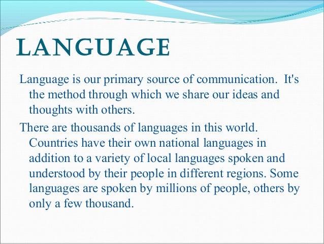 essay on importance of language essay on importance of language   words