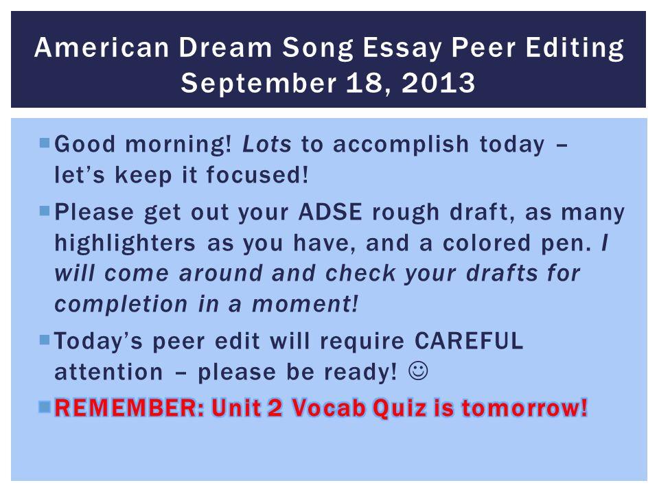 Write my dream essay examples