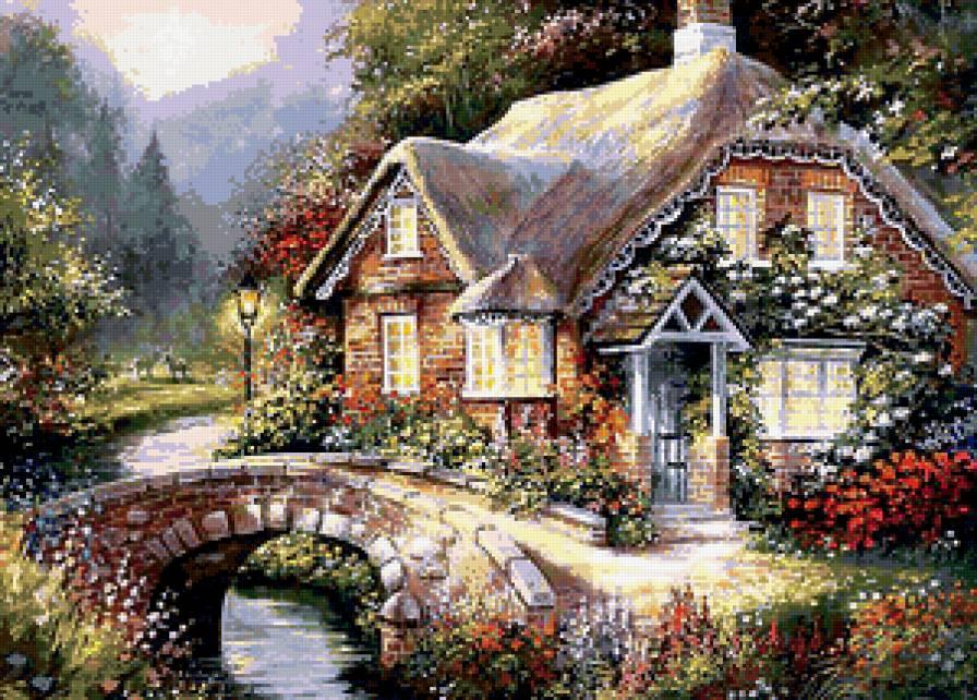 Дом в остров Флорина в деревне