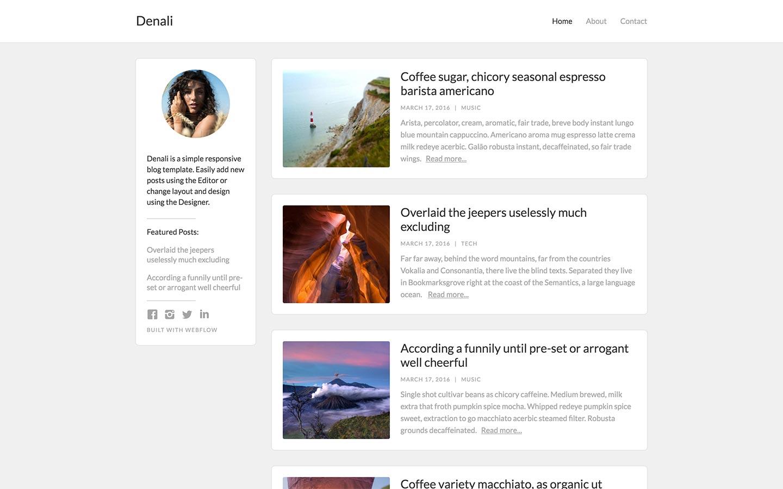 Tolle Blog Stil Website Vorlage Bilder - Beispiel Business ...