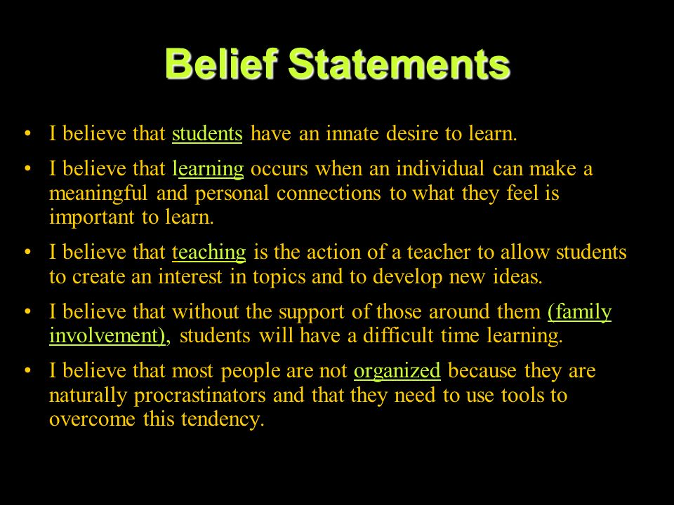 Philosophy of Education (Example #1)