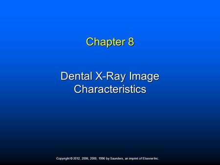 QA/QC in the Digital Radiography Environment (part 1)