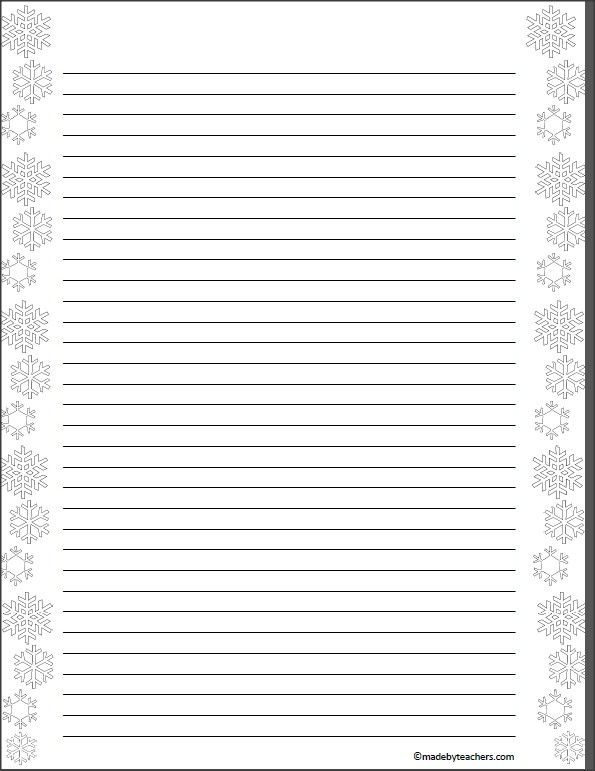 Fancy paper for writing letters