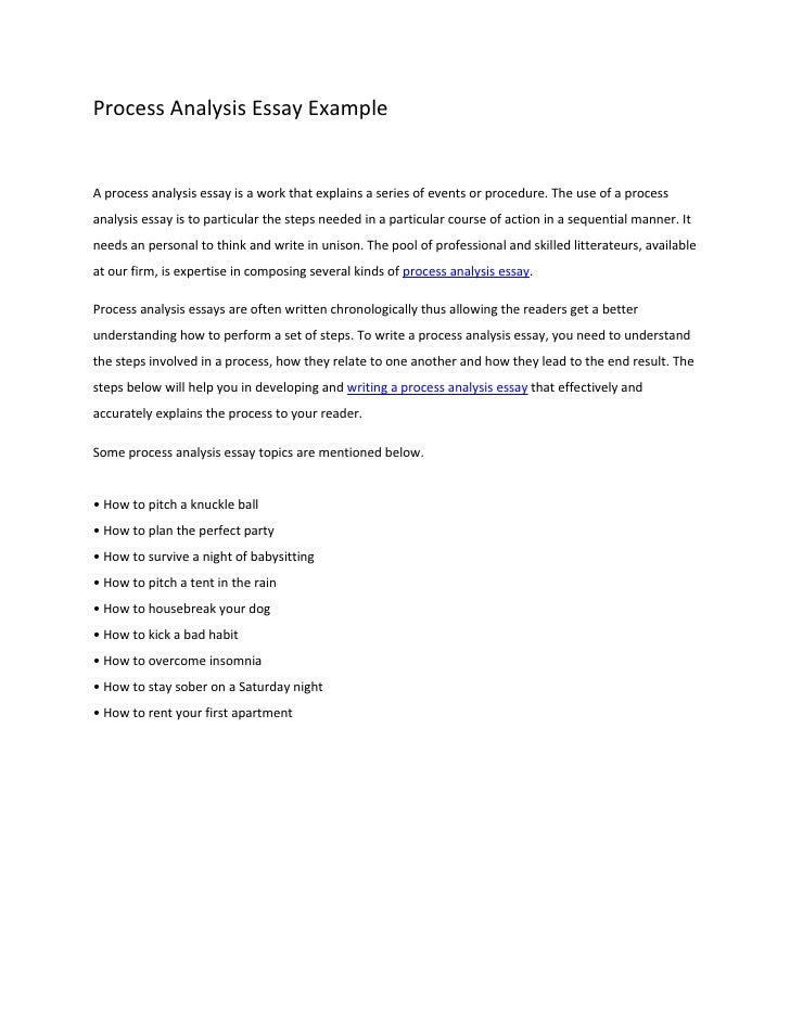 Free process essay examples