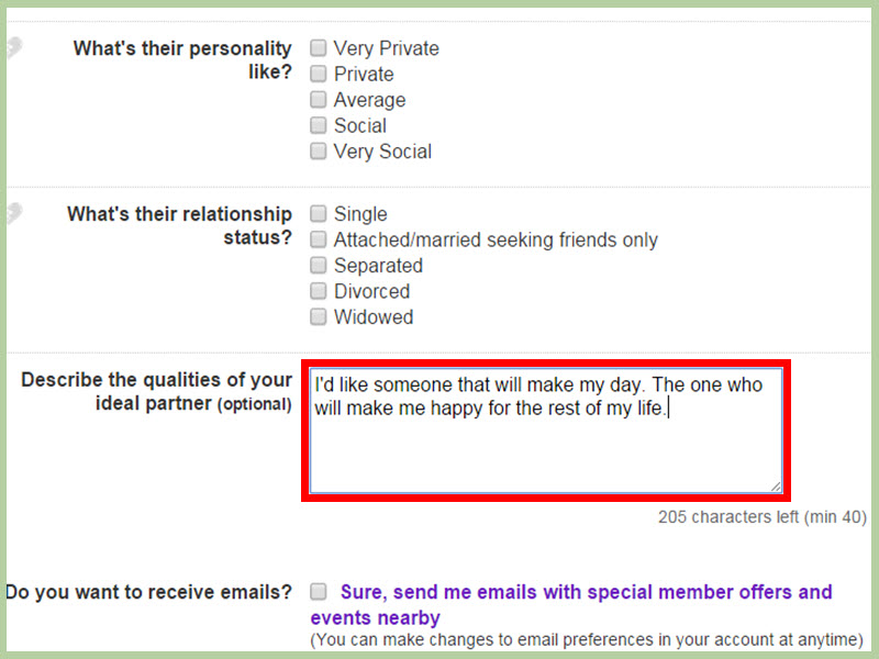 How to make dating site profile