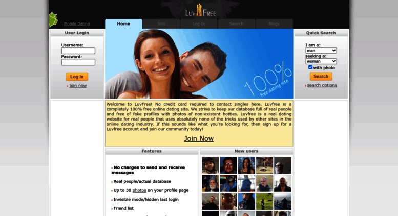 Dating site username search engine