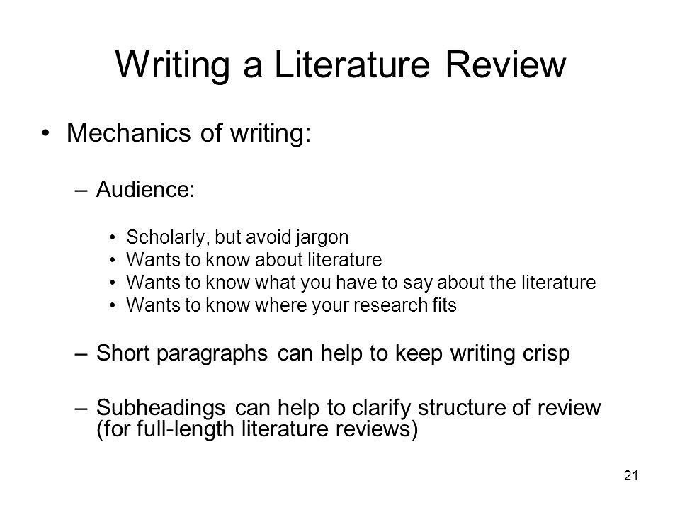Write my literature review sample