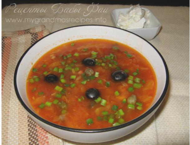 Солянка простая домашняя рецепт с фото пошагово