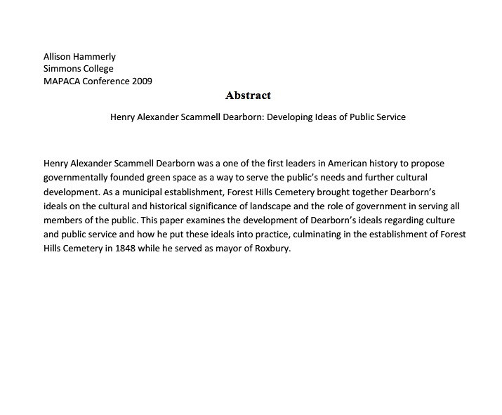 Sample research paper with abstract