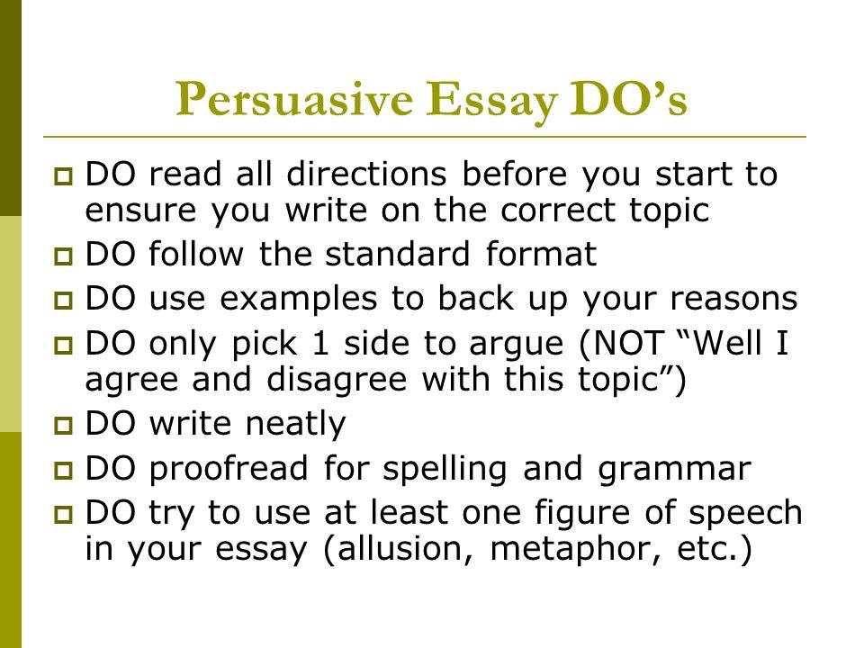 Persuasion essay