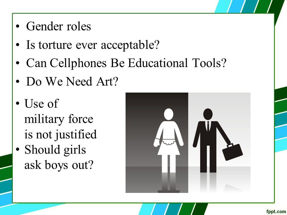 Gender role essay topics