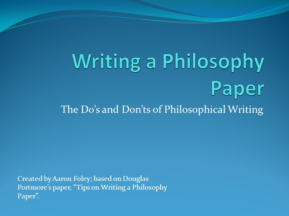 Write my philosophy thesis topics