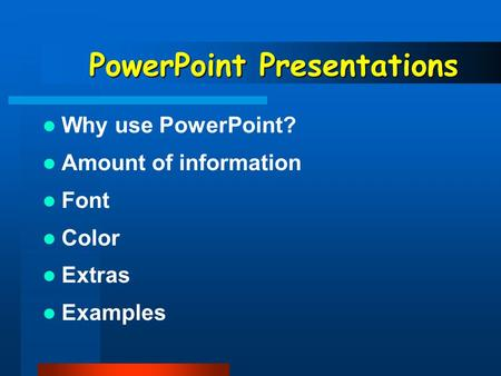 Write my new kind of powerpoint