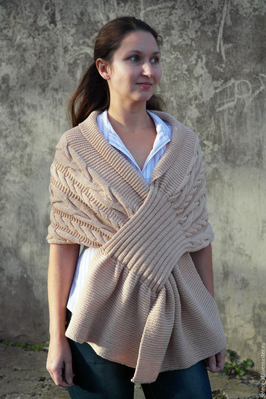вязание спицами для женщин жакеты теплые