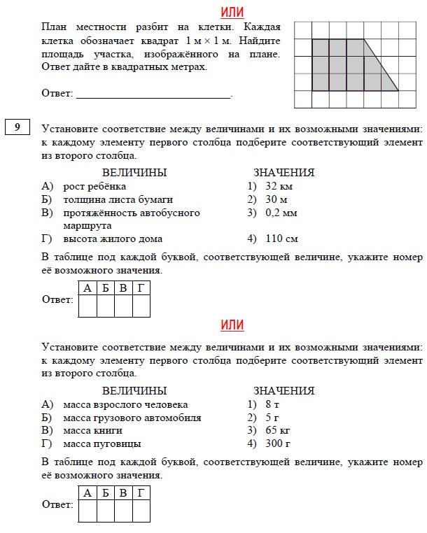 Егэ по математике ответы 8 класс