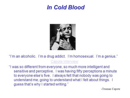 Write my in cold blood essays