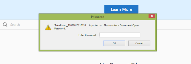 How to Open Aadhar Card PDF File without Password