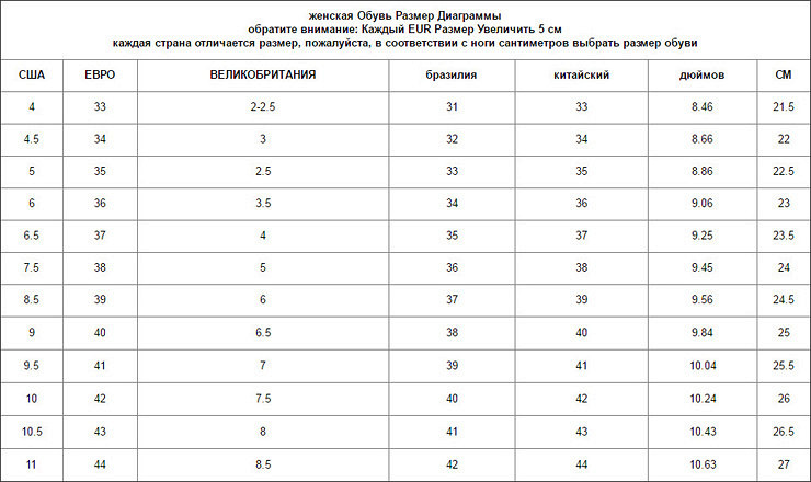 Размеры мужской обуви eur на русский в алиэкспресс