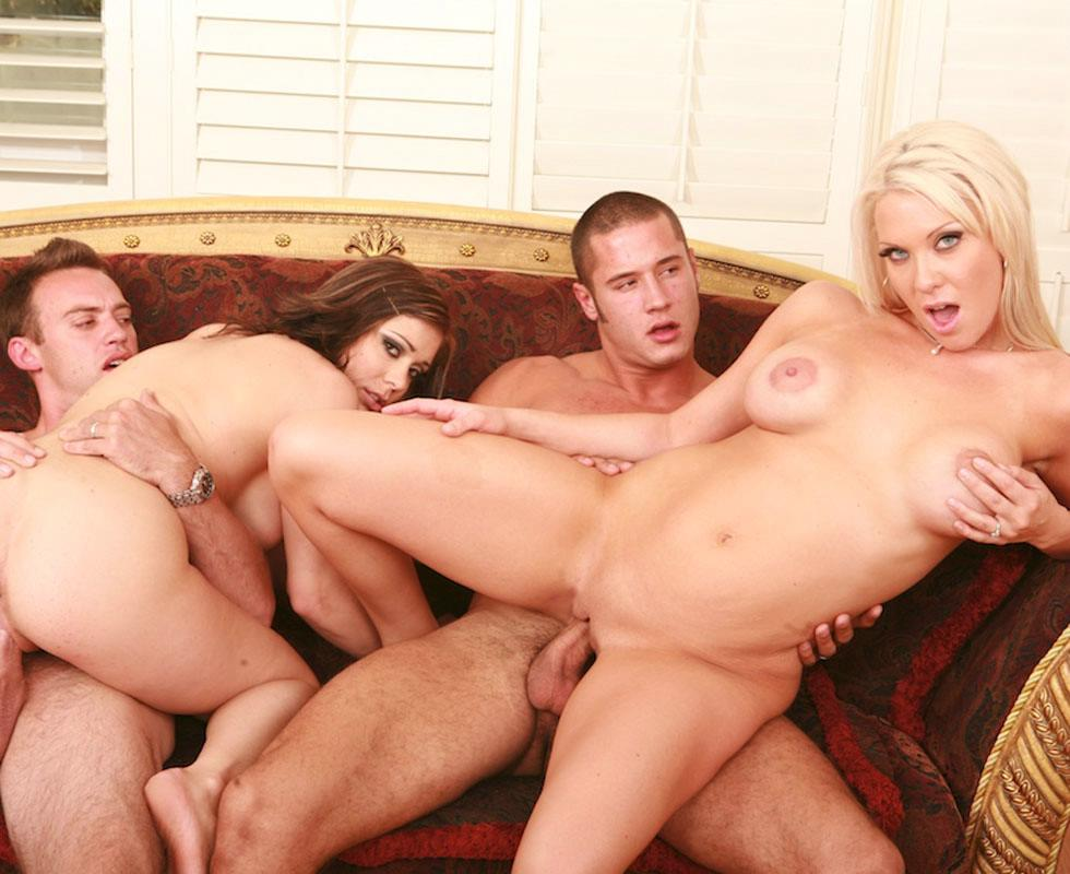 Party foursome sex