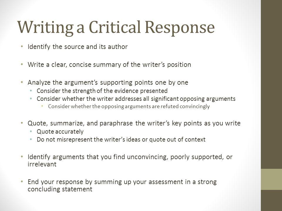 Write my critical summary sample