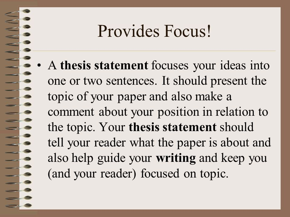 Writing a Thesis Statement - Essay Writing Help