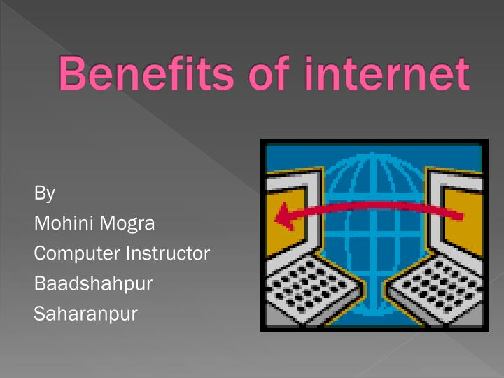 Essay on benefits of internet
