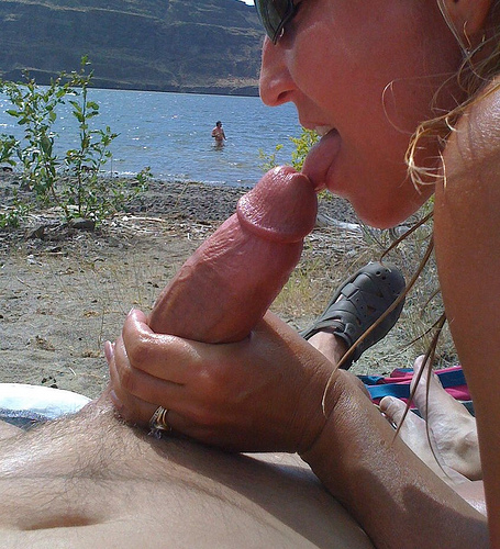 Wife forced to suck cock