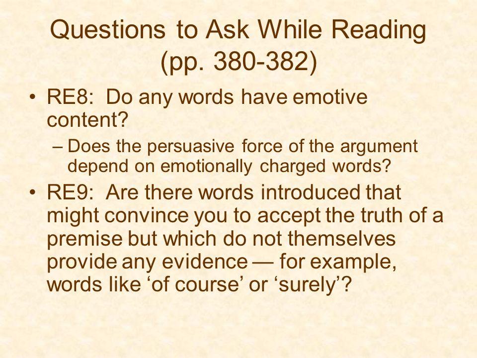 General essay questions
