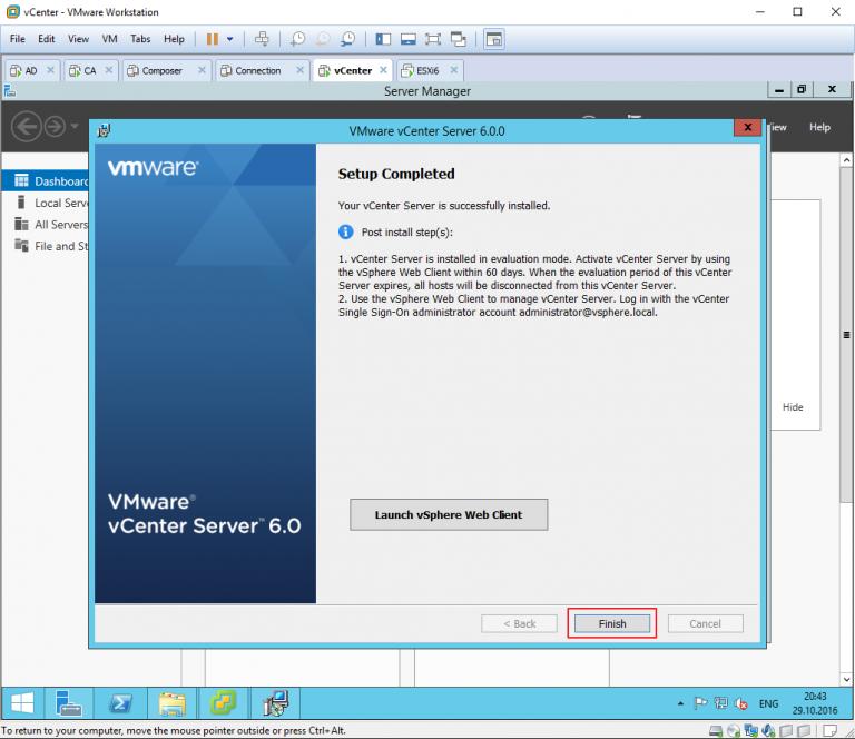 HTML5 based vSphere Client and vSphere Web Client