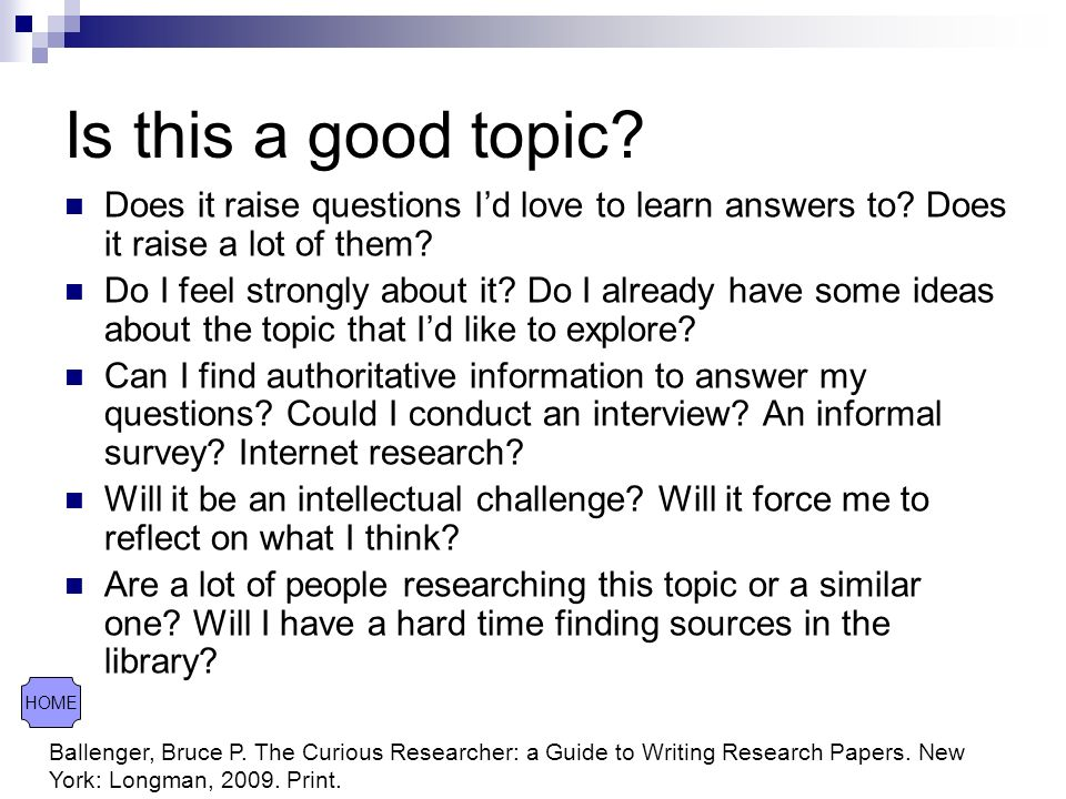 What to do a research paper on topics