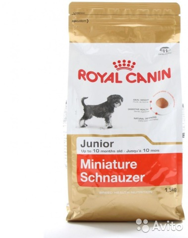 Корм royal canin миниатюрный шнауцер
