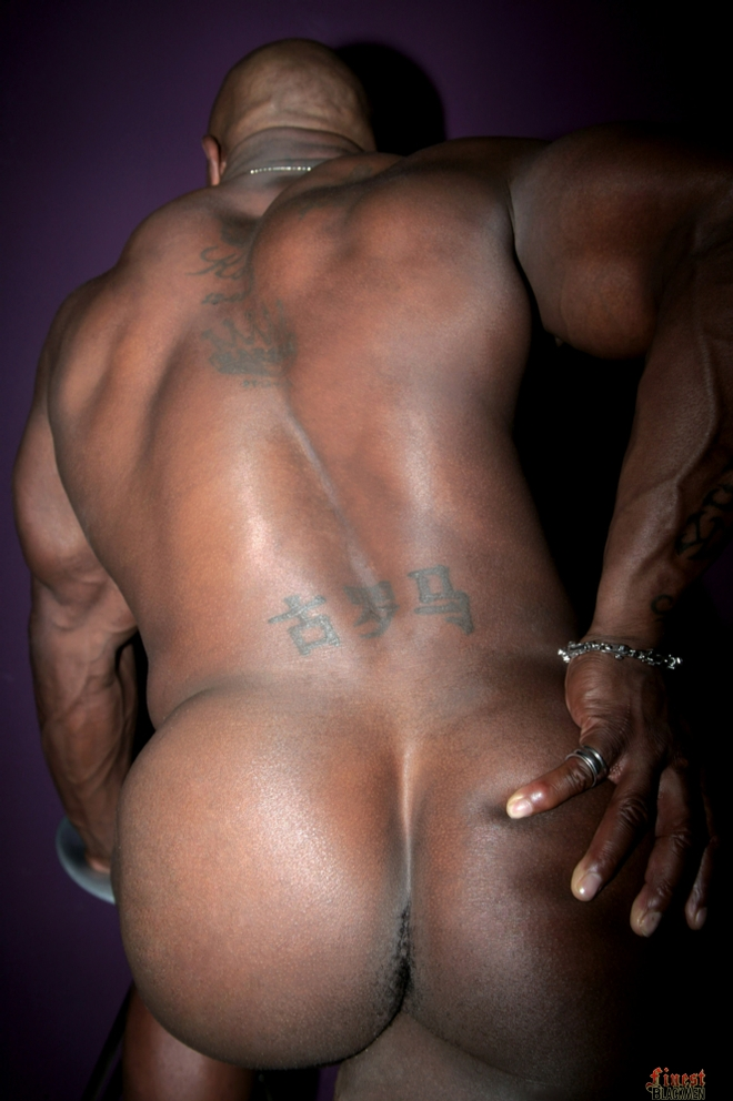 Nude black ass man